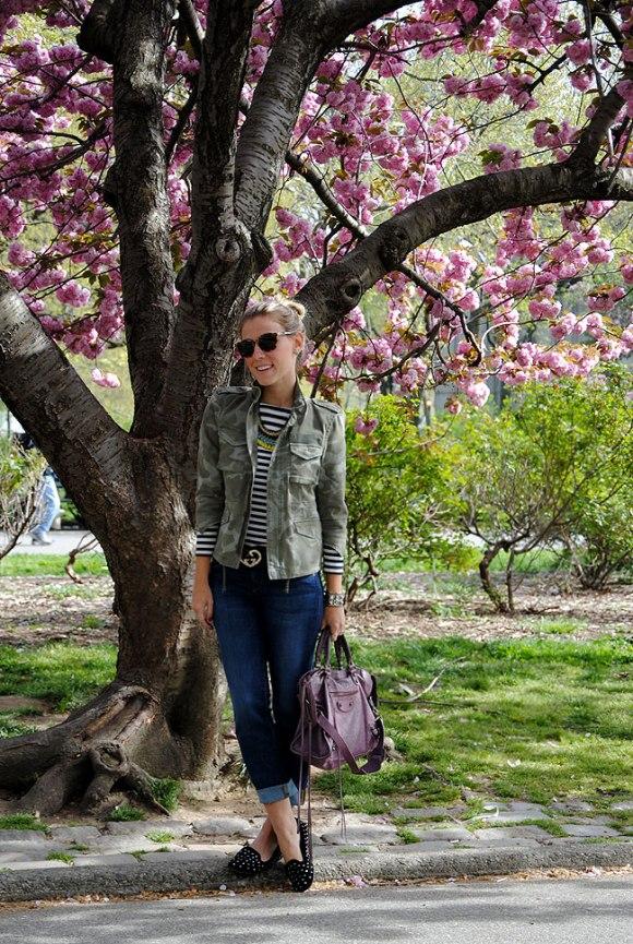 Durante o Cherry Blossom em NY