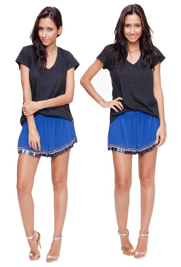 Shorts Chiffon - R$179,80 também em preto