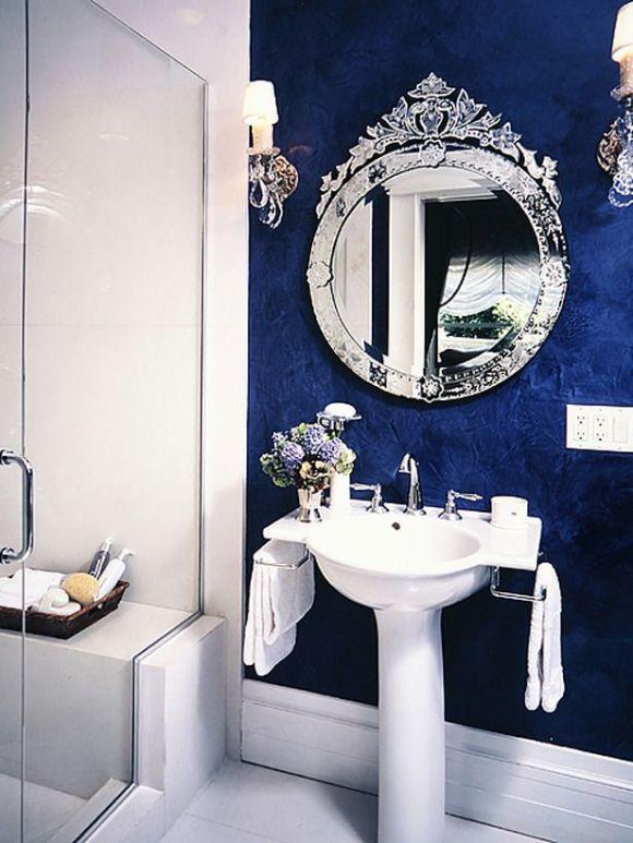 O que amamos? O espelho e a linda parede azul!
